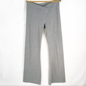 🎇 Aerie Gray Slim Gym Flare Yoga Pants Sz Large